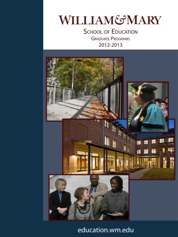 Graduate Catalog - School of Education - College of William and Mary