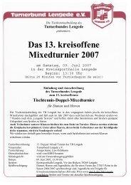 Das 13. kreisoffene Mixedturnier 2007 - Tischtennis-Kreisverband ...