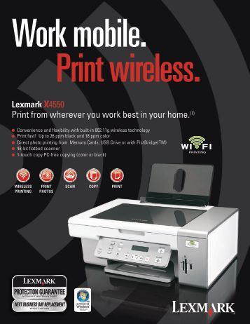 Print from wherever you work best in your home.(1)