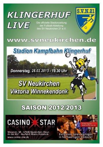Stadionheft Nr.09 - SV Neukirchen - SV Neukirchen 21 e.V.