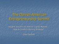 The Danish-American Entrepreneurship Summit
