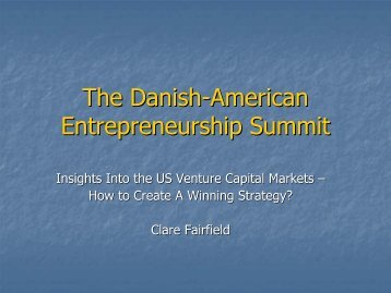 The Danish-American Entrepreneurship Summit