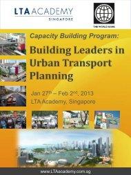 Capacity Building Program: - LTA Academy