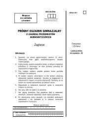 PRÓBNY EGZAMIN GIMNAZJALNY Żeglarze - Gazeta.pl