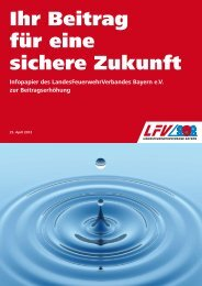 Infopapier des LFV Bayern zur Beitragsanpassung