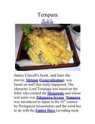 Tempura - The Geriatric Gourmet