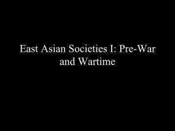 East Asian Societies I
