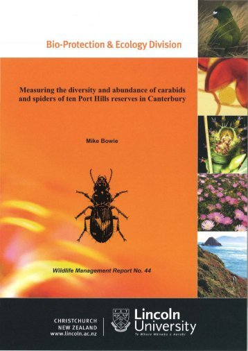 Measuring the diversity and abundance of carabids and spiders of ...