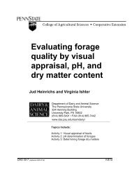 Evaluating forage quality by visual appraisal, pH, and dry matter ...