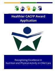 Healthier CACFP Award Application - Wyoming Department of ...