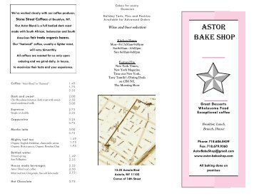 ASTOR BAkE SHOP
