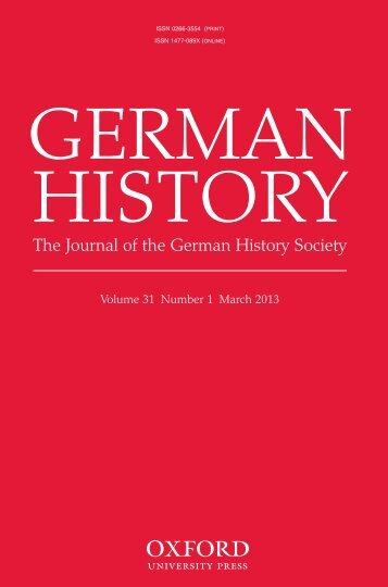 The Journal of the German History Society - German History - Oxford ...