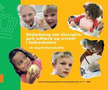 Vejledning om disciplin, god adfærd og trivsel i folkeskolen