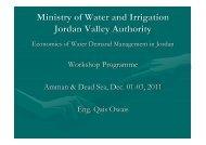 Managing agricultural water demand in the Jordan Valley ... - CMI