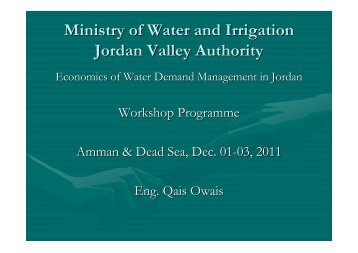 Managing agricultural water demand in the Jordan Valley ... - CMI