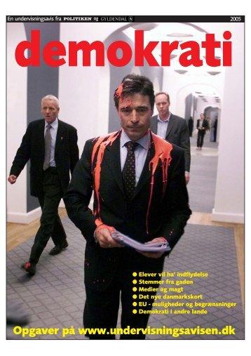 demokrati Opgaver på www.undervisningsavisen.dk - Gyldendal