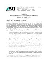 ESC/Java2 - Anwendungsorientierte Formale Verifikation - KIT