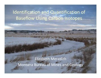 Identification and Quantification of Baseflow Using Carbon Isotopes