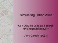 Simulating Urban Atlas
