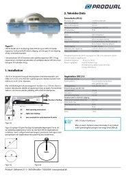 1. Installation 2. Tekniske Data B: B a: Ka