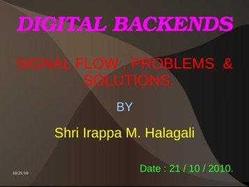 DIGITAL BACKENDS