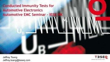 Conducted Immunity Testing on Automotive Electronics