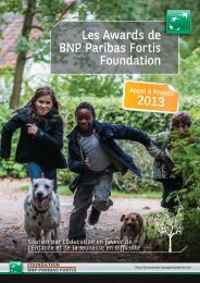 Les Awards de BNP Paribas Fortis Foundation