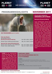 ProgrammHigHligHts novemBer 2011 - Planet