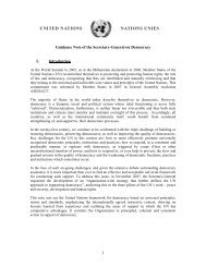 Guidance Note of the Secretary-General on Democracy Assistance