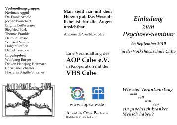 Einladung zum Psychose-Seminar AOP Calw e.V. ... - aop-calw.de