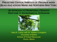 Presentation - The University of Maine - School of Forest Resources