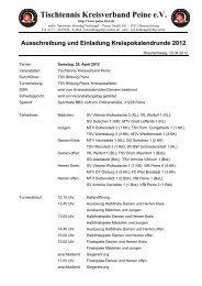 Ausschreibung und Einladung Kreispokalendrunde 2012