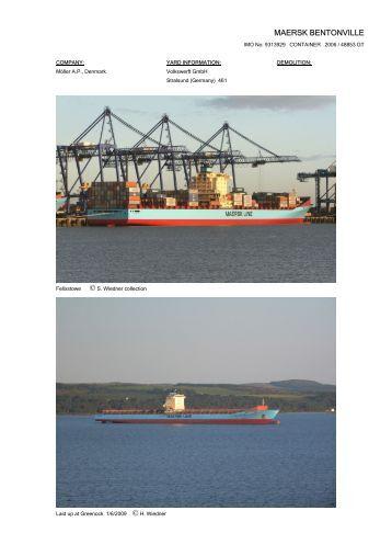 MAERSK BENTONVILLE - Cargo Vessels International