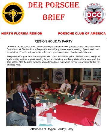 Der Porsche brief - North Florida - Porsche Club of America