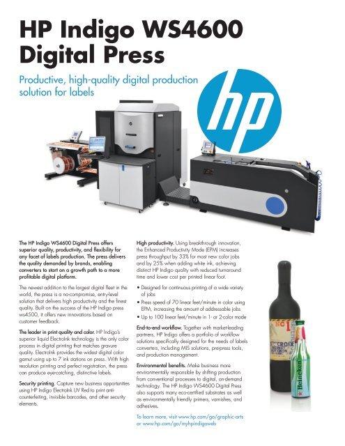 HP Indigo WS4600 Digital Press