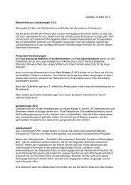 Elternbrief zum Halbjahreswechsel - März 2012 - am Gymnasium ...