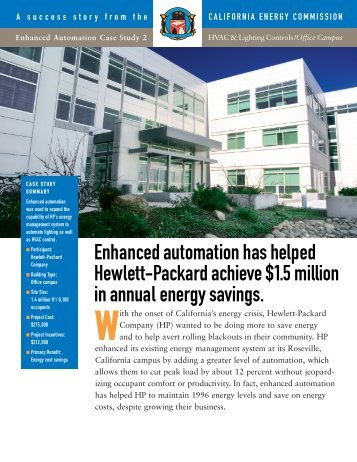 Hewlett-Packard Company - Office Campus (PDF file, 4 pages, 736 kb)