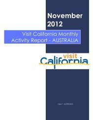 November - the California Tourism Industry Website