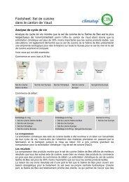 Factsheet: Sel de cuisine dans le canton de Vaud - Climatop