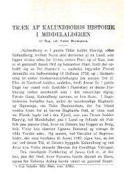 TRÆK AF KALUNDBORGS HISTORIE I MIDDELALDEREN