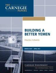building a better yemen - Carnegie Endowment for International Peace