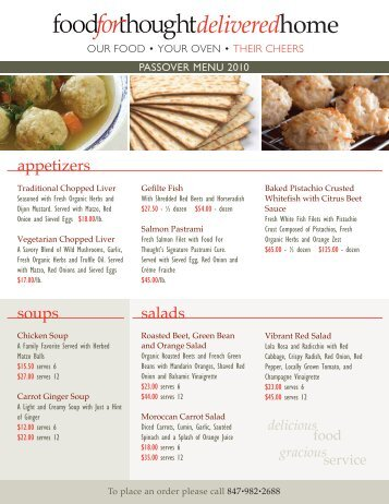 appetizers soups salads - Food For Thought