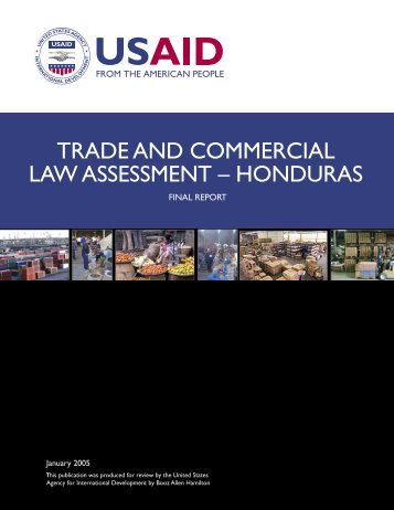 Trade and Commercial Law Assessment - Honduras - Economic ...