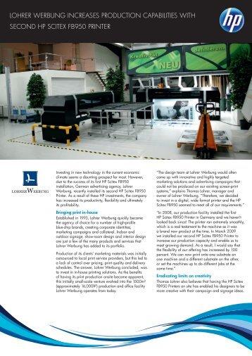 Lohrer Werbung Success story (776KB pdf) - HP