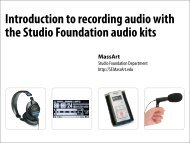 recorded - MassArt Studio Foundation