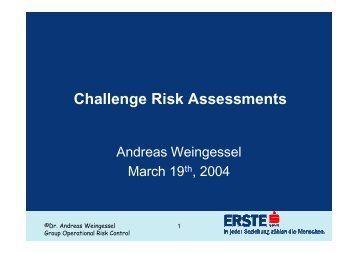 Challenge Risk Assessments