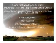 Insurer Exposures and Responses to Climate Change - Evan Mills ...