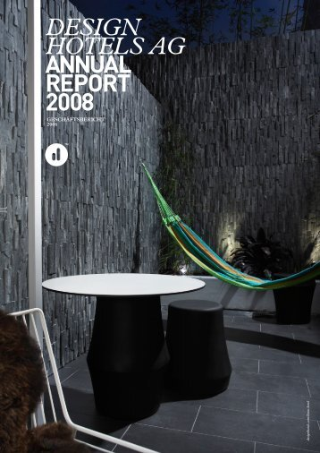 DESIGN HOTELS AG ANNUAL REPORT 2008