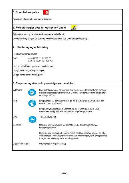 Sikkerhedsdatablad Grusasfaltbeton (GAB) - NCC