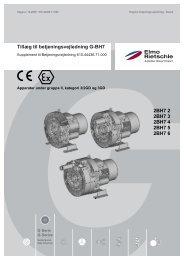 Tillæg til betjeningsvejledning G-BH7 - Elmo Rietschle